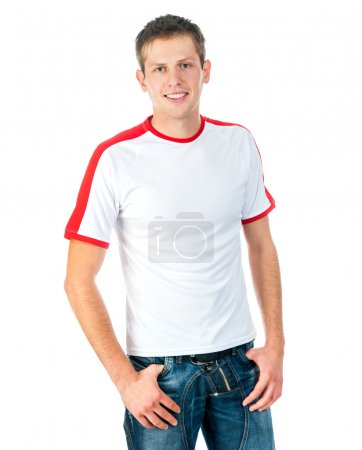 young man in t-shirt
