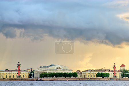 Thunderstorm clouds over St. Petersburg