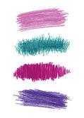 Series of color pencil strokes