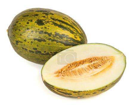 Photo pour Piel de sapo melon sur fond blanc - image libre de droit