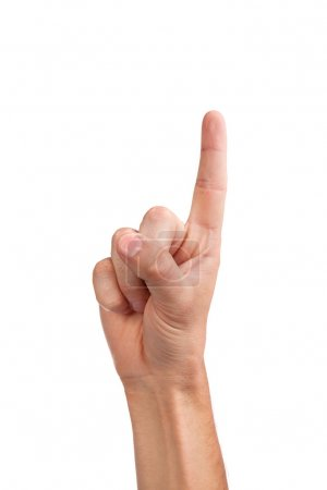 Photo for Man index finger isoalted on a white background - Royalty Free Image