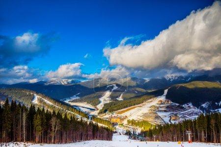 landscape in mountains Carpathians, Ukraine
