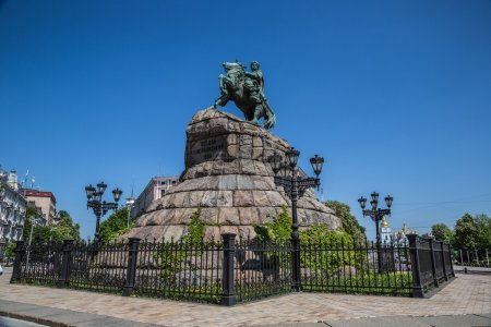 Historic monument to Hetman Bogdan Khmelnitsky on ...