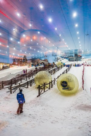 Ski Dubai is an indoor ski resort with 22,500 square meters of indoor ski area