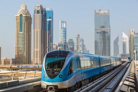 Photo pour Le métro de Dubaï. UAE - image libre de droit