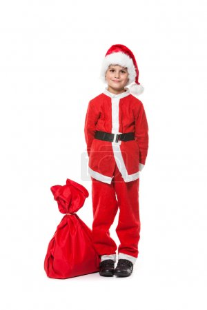 Boy with Santa's sack