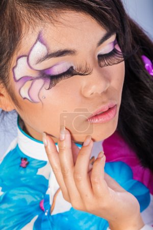 Beautiful asian woman with fashion make-up