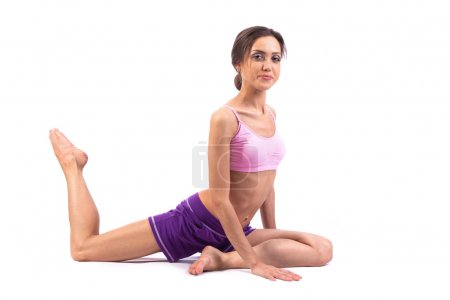 Beautiful woman with yoga pose