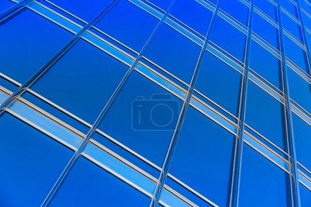 Skyscraper  blue glass