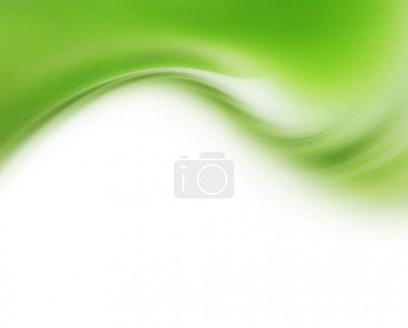 Photo pour Fond moderne abstrait avec vagues vertes - image libre de droit