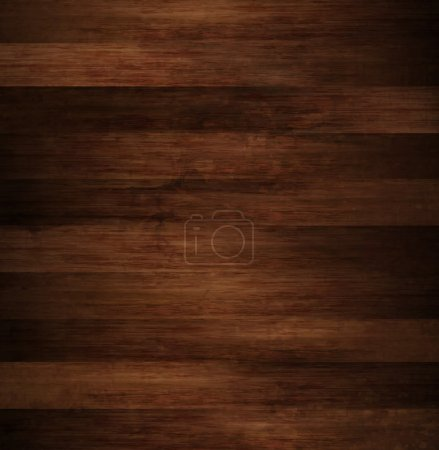 Illustration for Wood Brown Textured Backckground - Royalty Free Image