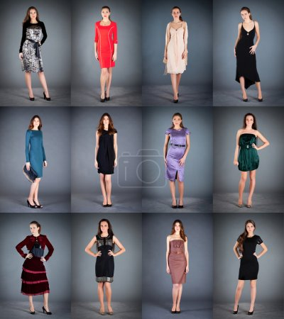 Collection of women's dresses