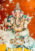 Ganesh ancient fresco
