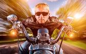 """Постер, картина, фотообои """"мотоциклист на мотоцикле"""""""