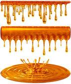 Mokré a splash zlatý med nebo karamel