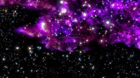 nacimiento de una nueva nebulosa de explosión o big bang