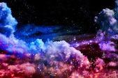 Blue and magenta Northern Lights