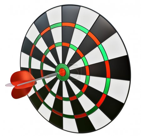 Dart in the center of darts