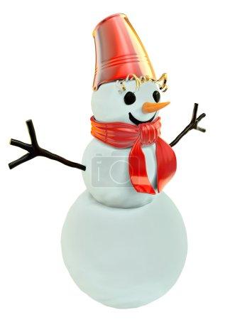 Photo pour Sentir le bonhomme de neige comme symbole des vacances d'hiver - image libre de droit