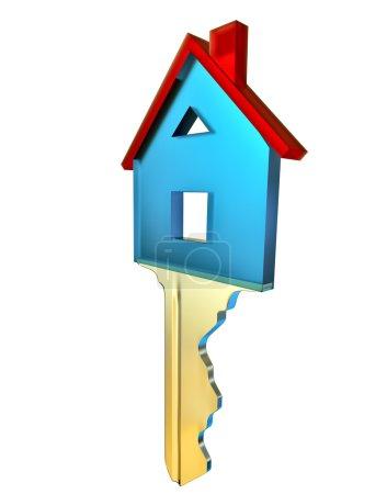 Photo pour Clé pour une nouvelle maison comme un symbole des achats et investissements - image libre de droit