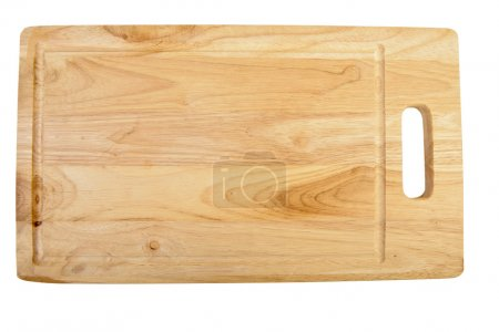 Photo for Wooden chopping board isolated on a white - Royalty Free Image