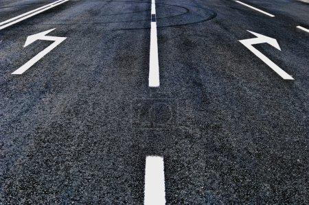 asphalt road direction