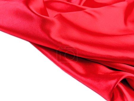 Red fabric silk