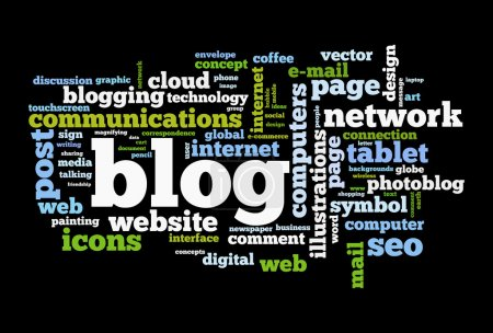 Photo pour Image blog concept mot nuage - image libre de droit