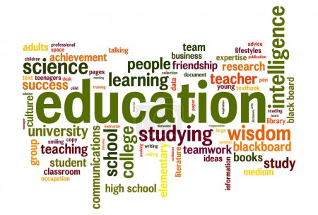 Photo for Education word cloud conceptual image - Royalty Free Image