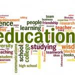 Education word cloud conceptual image...