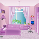 Illustration of the interior children's room in pi...