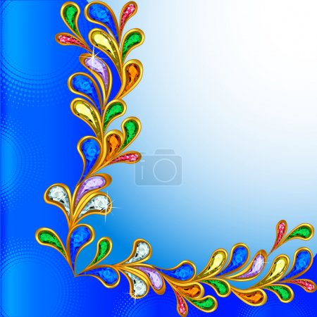 Illustration for Illustration background with precious stones and circles - Royalty Free Image
