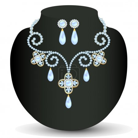 necklace women for marriage with pearls and precious stones