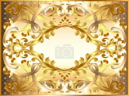 Background painting frame, with ornaments of gold