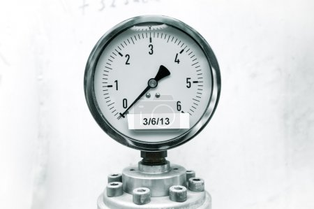 pressure gauge on industrial