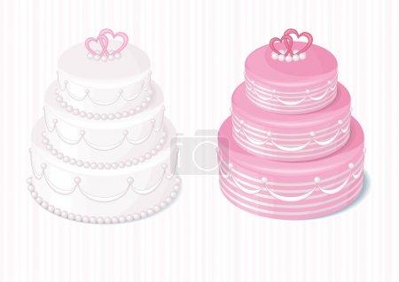 Photo pour Mariage fond avec le gâteau de mariage - image libre de droit