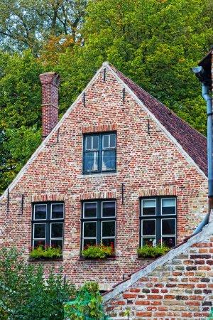 Medieval house in Bruges. Belgium