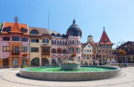 Europe square in Komarno . Slovakia