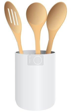 Kitchen spoons