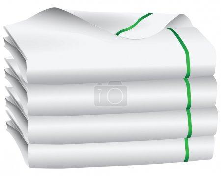 Set of white towel