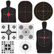 A professional set targets for training. Vector il...