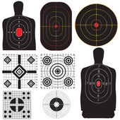 A professional set targets for training Vector illustration
