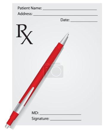 Prescription and pen