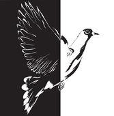 Dove cartoon Vector illustration