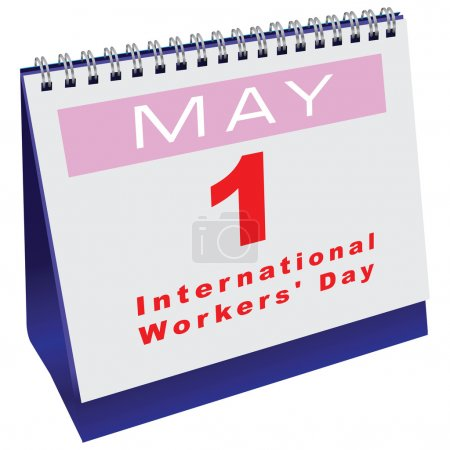 Calendar with date Workers Day