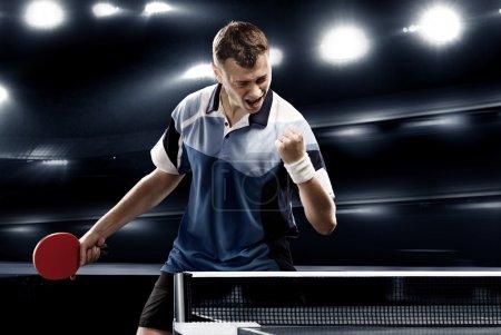 Tennis-player celebrates victory
