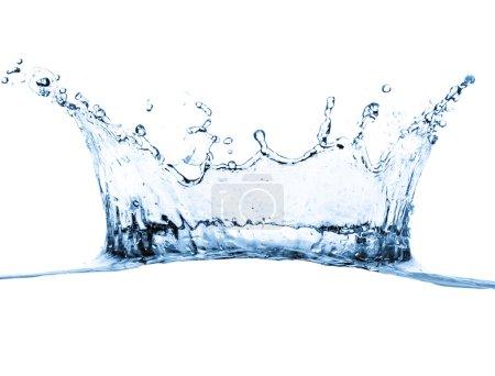 Photo pour Éclaboussures d'eau isolées sur blanc - image libre de droit