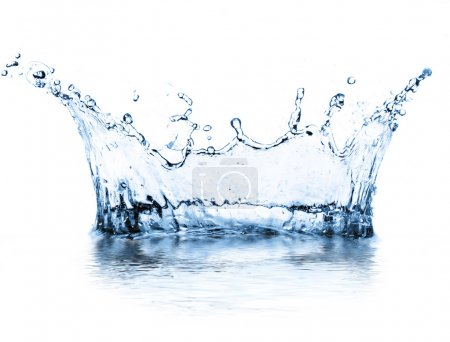 Photo for Water splash isolated on white - Royalty Free Image