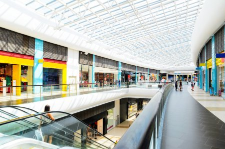 Photo for Panoramic view of a modern mall - Royalty Free Image