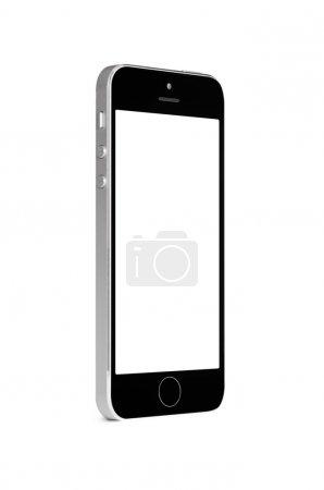 Photo pour Smartphone écran tactile moderne isolé sur fond blanc - image libre de droit